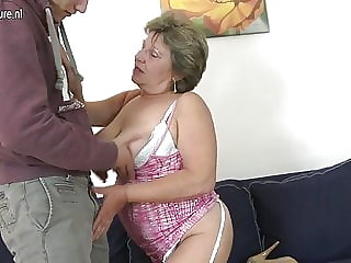 Lucky Son Fucks Old Dirty Grandma