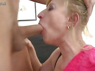 Dirty Whore Mother and Her Son's Friend