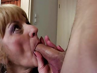 Hungry Granny Suck and Fuck Young Cock