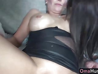 Teen Girl Fucks Sexy Mature with Strapon