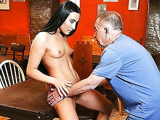 Daddy4k. Young Girl and Boyfriend's Daddy Embark Sensual