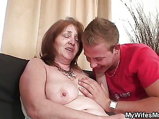 Old Mother in Law Involved into Taboo Sex