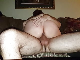 Part 1, 57 Year Old Cougar Rides 29 Year Old Cub on Couch