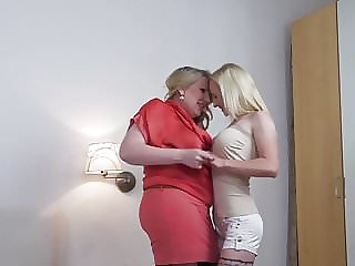 Blond Mom Licks and Fucks Blond Daughter