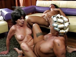 Two Sex Bombs Grandmas Fuck Teen Girl