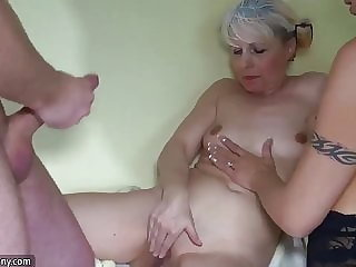 Oldnanny Old and Young Woman Masturbating Pussy