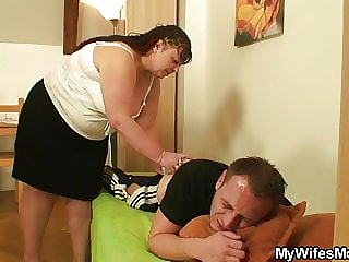 Girlfriends Chubby Mother Pleases Her Man