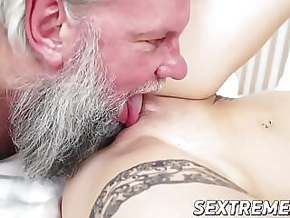 Awesome Brunette Teen Loves Fucking with Her Old Lover