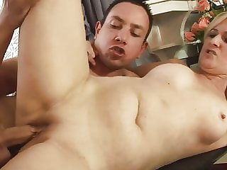 Horny Blonde Mom Gets Fucked by a Young Guy