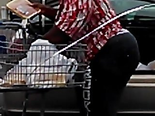 GILF Booty Pulled Straight Up to the Store and Caught Her