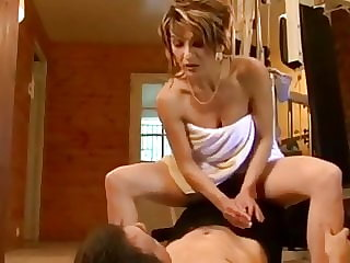 Gorgeous French MILF and Young Guy