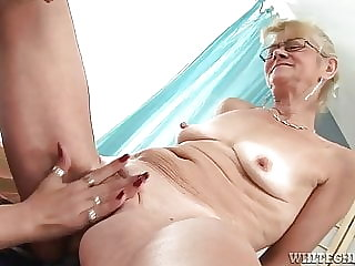 Young Pussy Enjoys Playing with Toys in Grandma S Pussy