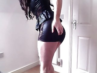 Ashleydare - Tight Pvc Mini Dress, Perfect Sissy