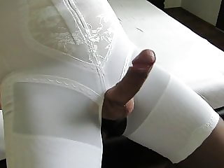 Crossdressing Sissy Girdle Cock