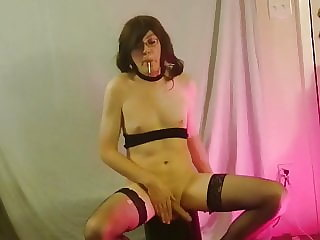 Sissy Ambercd Sits and Spins