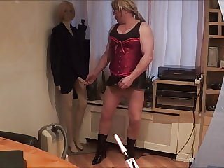 Sissy with Fuckmachine