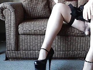 Sissy Ray in Black and Red High Heels