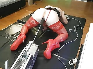 Cd Sissy Slut Pig Ass Fucked Fuck Machine Huge Dildo