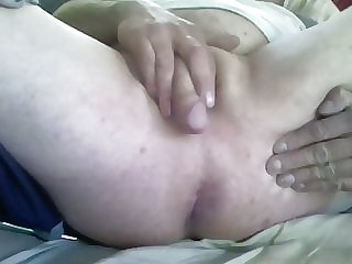 Sissy Cums on Own Ass
