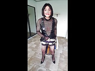 Sissy Robertas Chastity Falls off During Session