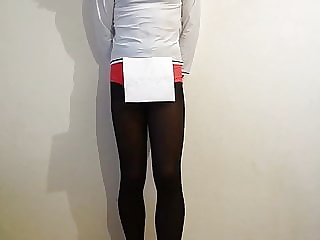 Sissy Crossdresser in Tight Spandex