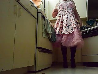 Sissy Ray in Pink Fancy Dress and Petticoats