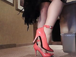 Sissy Ray in Black and Red Skirt