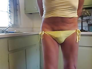 Male Sissy Slut in His Little String Bikini