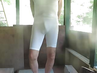 Spandex Sissy Bitch Shows You His Little Boner