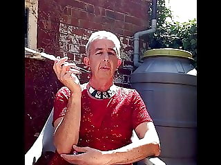 Sissy Faggot Pink Holder Garden Smoke