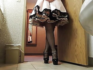 Sissy Ray in Pink Sissy Dress Part 3
