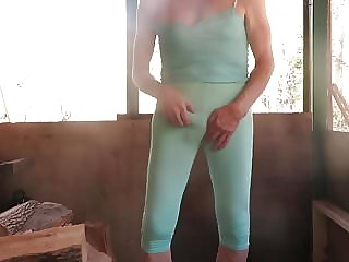 My Skin-tight Sissy Bitch Leggings and Cami Top