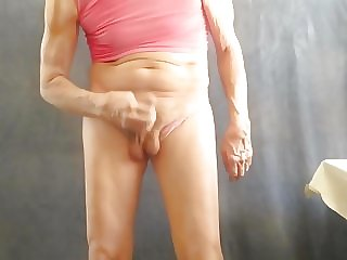 Panty Sissy Loves to Masturbate His Little Boner