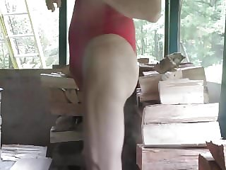 Leotard Sissy Shakes His Girly Ass