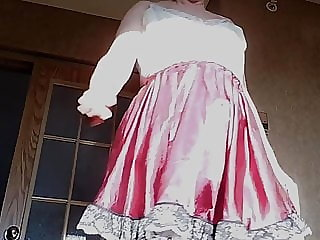 Sissy Ray in Purple Sissy Dress 2
