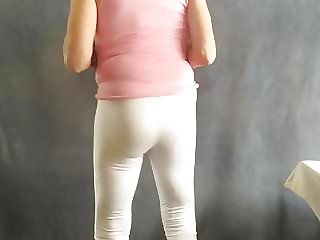 Sissy in Tight Leggings Has a Fem Ass