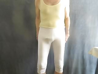 Sissy Bitch in Skin-tight Cotton Leggings