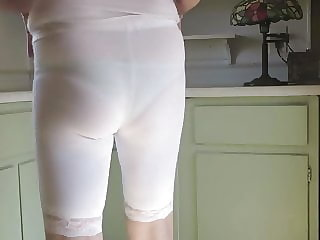 Sissy Bitch, Leggings, Visible Panties
