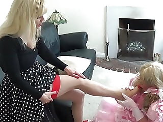 Sissy Made to Suck Toes