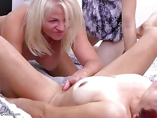 Lesbian Sex Busty Moms and Young Daughters