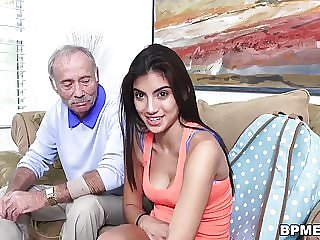 Teen Michelle Martinez Vs Old Man