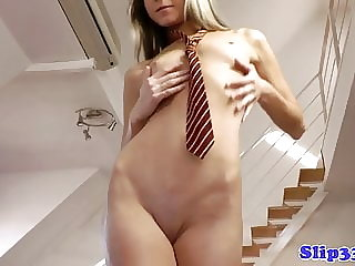 British Babe Brings Herself to Climax