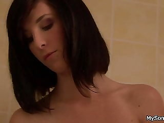 Cute Brunette GF Cheats with Not Her Father in Law
