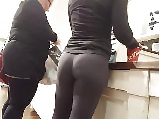 Sexy College Teen in Spandex at Store Spy