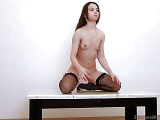 Naughty Teen Exposed on a Table