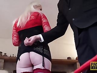English Subslut Gagging on Maledom Cock and Getting Slammed