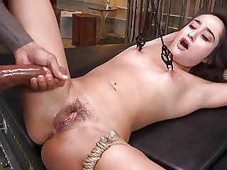 Tiny Fuck Toy Isabella Nice Restrained and Fucked by Huge Di