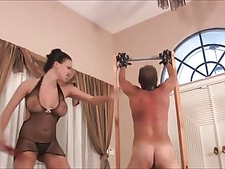 Mistress Belting Slave