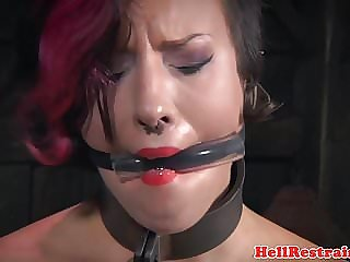 Bonded Slut Mercilessly Toyed by Maledom