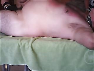 Dom Torments Fat Wimp Dick-sub Cougar Sucks to Make Nice